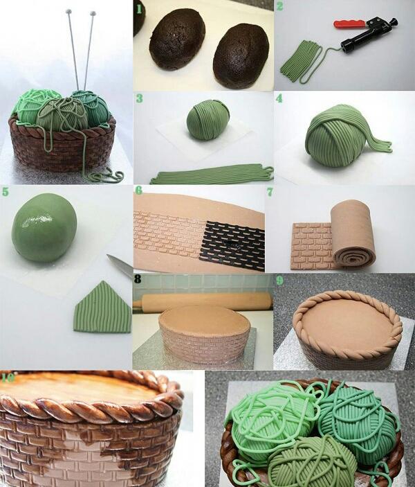 Tuğla Görünümünde Şeker Hamurlu PastaModeli